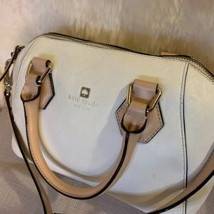 Smooth Leather Roll Handle Kate Spade with Strap